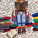 «Leer es soñar con los ojos abiertos.» de Jessiiccaadraws