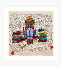 Reading is Dreaming with Open Eyes. Art Print