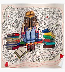 Reading is Dreaming with Open Eyes. Poster