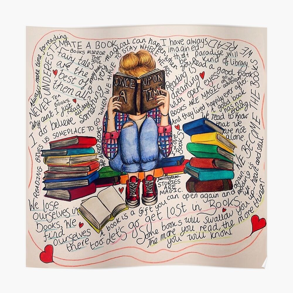 Leer es soñar con los ojos abiertos. Póster