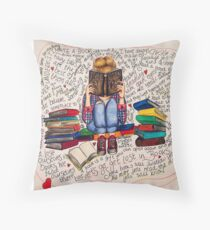 Reading is Dreaming with Open Eyes. Throw Pillow