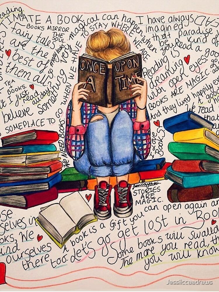 Lesen ist träumen mit offenen Augen. von Jessiiccaadraws
