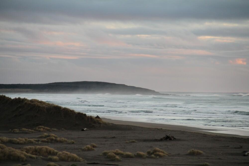 Misty Beach by NickBentonArt
