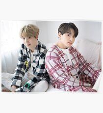 Póster BTS YoonKook - Jungkook y Suga