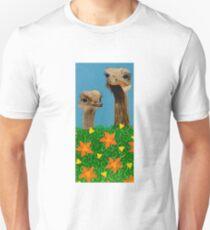 Peeping Ostriches  Unisex T-Shirt
