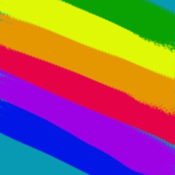 Rainbow Stripes in Bold Painter Style by Greenbaby
