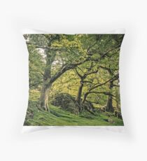 Trees beside the footpath Throw Pillow
