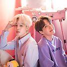 «Lindo BTS Duo Jihope Jimin y J-hope - Retrato» de KpopTokens