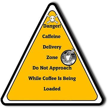 Coffee Loading Zone Sticker by CheekyPuppy