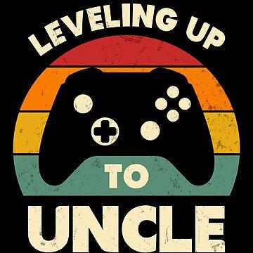Subiendo de nivel al tío Funny Retro Gamer Nuevo tío Brother Gift de JapaneseInkArt