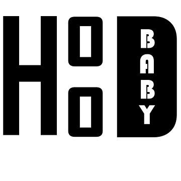 Da Real Hood Baby Black & White by FabloFreshcoBar