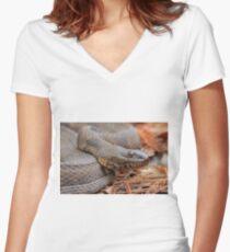 Water Snake Women's Fitted V-Neck T-Shirt