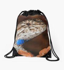 Fence Lizard Drawstring Bag