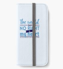 Die Welt hat kein Recht - Hamilton iPhone Flip-Case/Hülle/Klebefolie