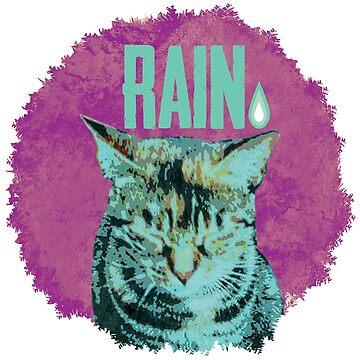 Katze im Regen von Periartwork