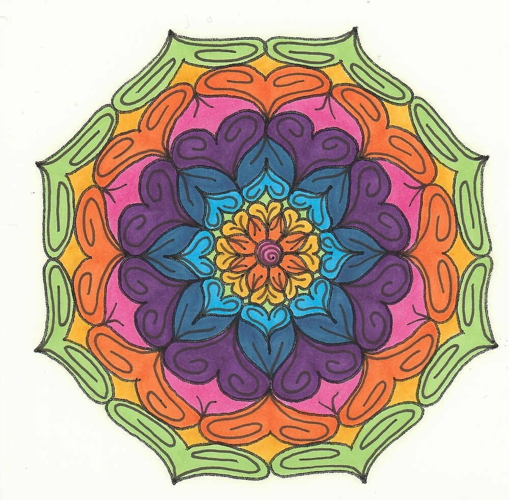 Mandala Drawing #1 Original Design by TAM by Michelle Clifton