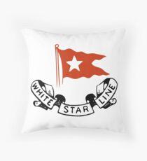 White Star Line (Titanic) Throw Pillow