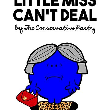 LITTLE MISS CAN'T DEAL LITTLE MISS RUNS THROUGH WHEAT - THERESA MAY - CONSERVATIVE PARTY by prezziefactory