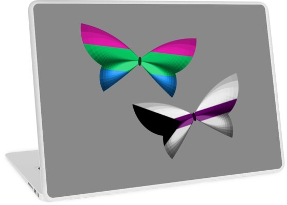 Poly Demisexual Pride Butterflies by shaneisadragon