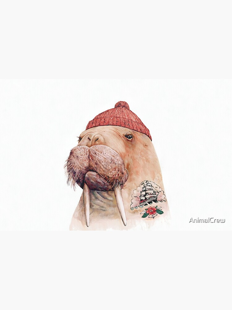 Tattooed Walrus (Red) by AnimalCrew