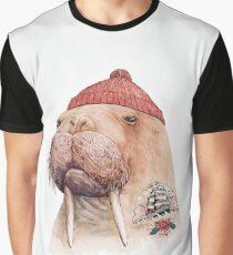 Tattooed Walrus (Red) Graphic T-Shirt