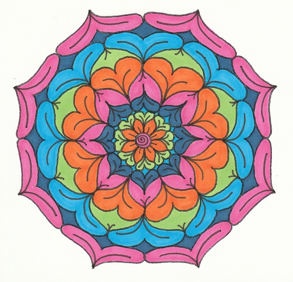 Mandala Drawing #6 Original Design by TAM by Michelle Clifton