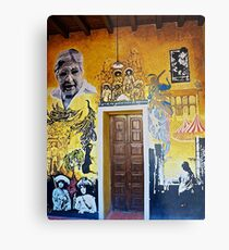 Mural from Parral, Mexico Metal Print