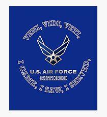 USAF RETIRED LOGO SHIELD Photographic Print