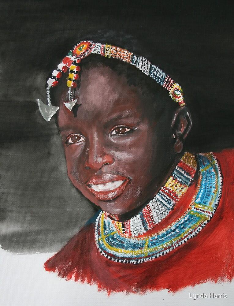 Young Masai girl by Lynda Harris
