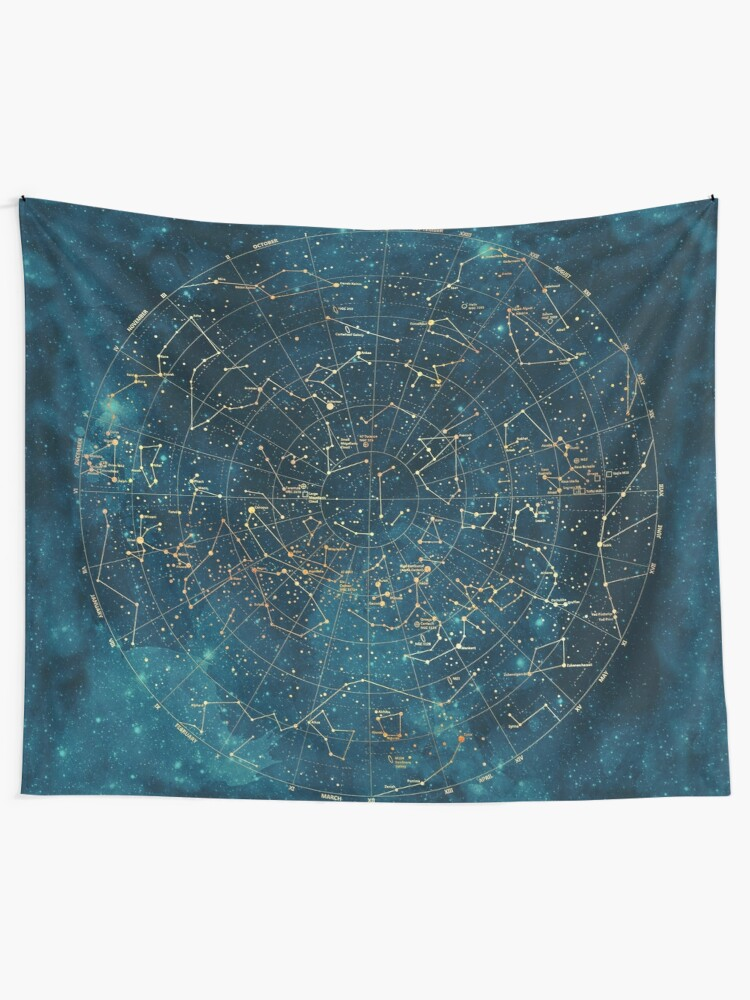 Alternate view of Under Constellations Tapestry
