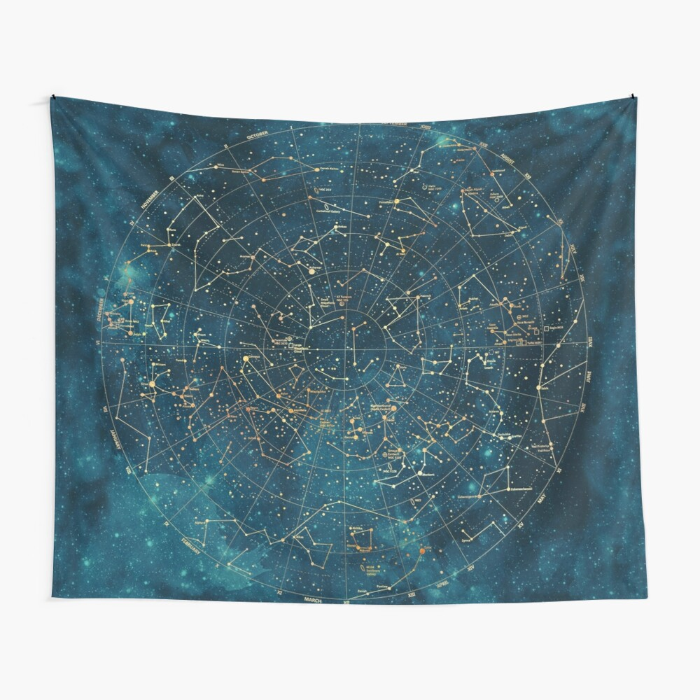 Under Constellations Wall Tapestry