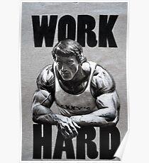 Arnold Schwarzenegger Hart arbeiten Poster