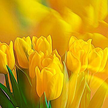 Yellow Tulips by wekegene