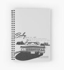 Baby Supernatural 67 Impala Spiral Notebook