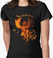 Fall Out Boy - The Phoenix - Then I'll Raise You Like A Phoenix Women's Fitted T-Shirt