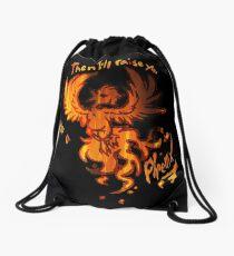 Fall Out Boy - The Phoenix - Then I'll Raise You Like A Phoenix Drawstring Bag