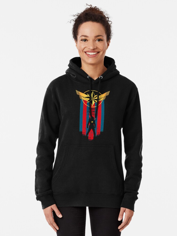 Alternate view of A Real Heroine v2 Pullover Hoodie