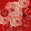 Red and pink red flowers by mjvision Mia Niemi by mjvisiondesign