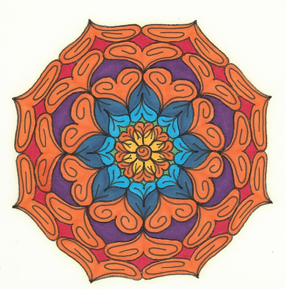 Mandala Drawing #15 Original Design by TAM by Michelle Clifton