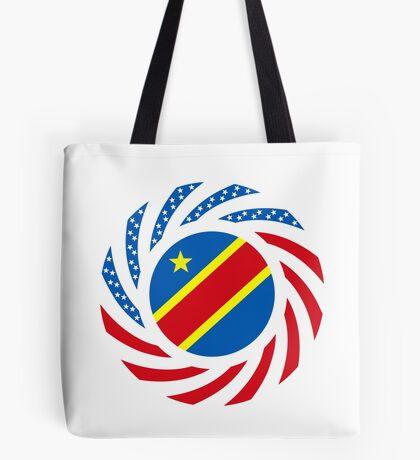 Congolese American (Democratic Republic) Multinational Patriot Flag Series Tote Bag