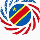 Congolese American (Democratic Republic) Multinational Patriot Flag Series by Carbon-Fibre Media