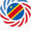 Congolese American (Democratic Republic) Multinational Patriot Flag Series by Carbon-Fibre Media