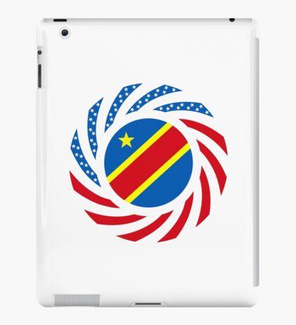Congolese American (Democratic Republic) Multinational Patriot Flag Series iPad Case/Skin