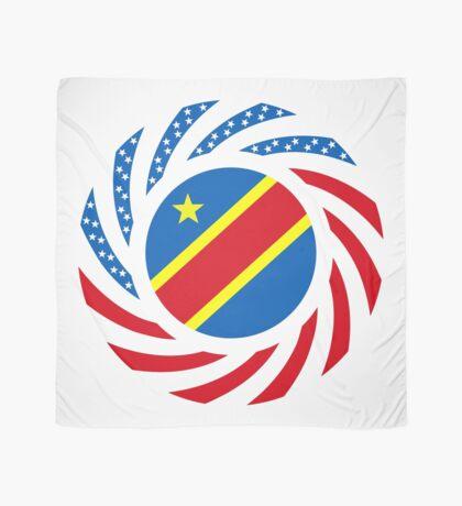 Congolese American (Democratic Republic) Multinational Patriot Flag Series Scarf