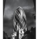 Monochrome Gherkin (30 St Mary Axe) by BigFatArts