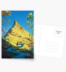 Pfad nach oben Postkarten