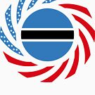 Botswana American Multinational Patriot Flag Series by Carbon-Fibre Media
