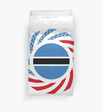 Botswana American Multinational Patriot Flag Series Duvet Cover