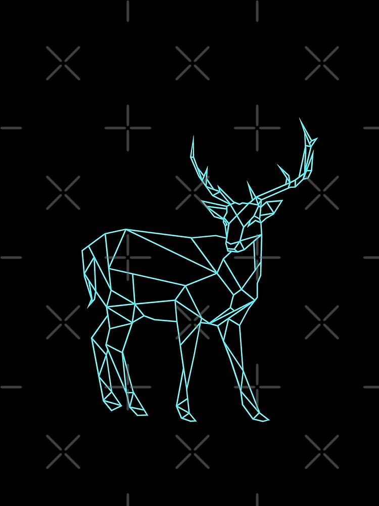 Handgezeichnete Hirsch Design von OKDave