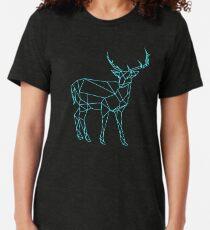 Handgezeichnete Hirsch Design Vintage T-Shirt